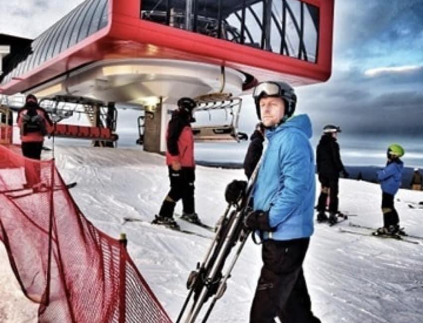 Kenneth Kristensen på ski