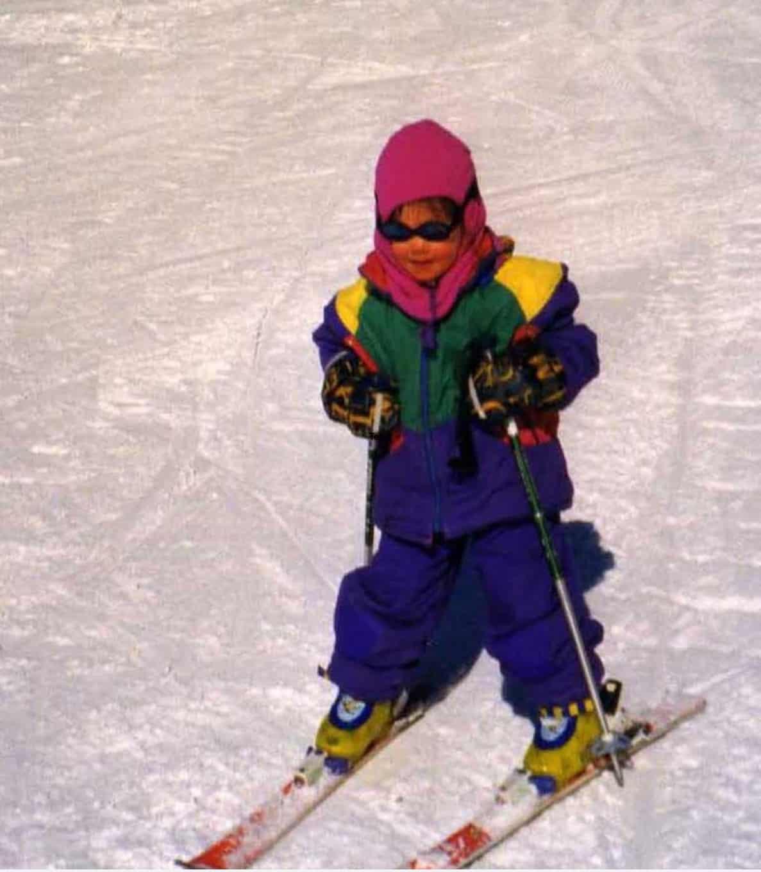 Lille Martha på ski