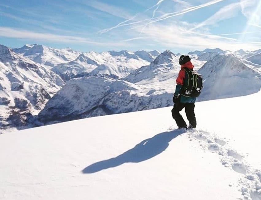 Martha på en bjergtop