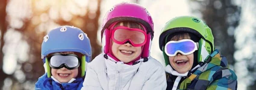 tre Børn med skibriller